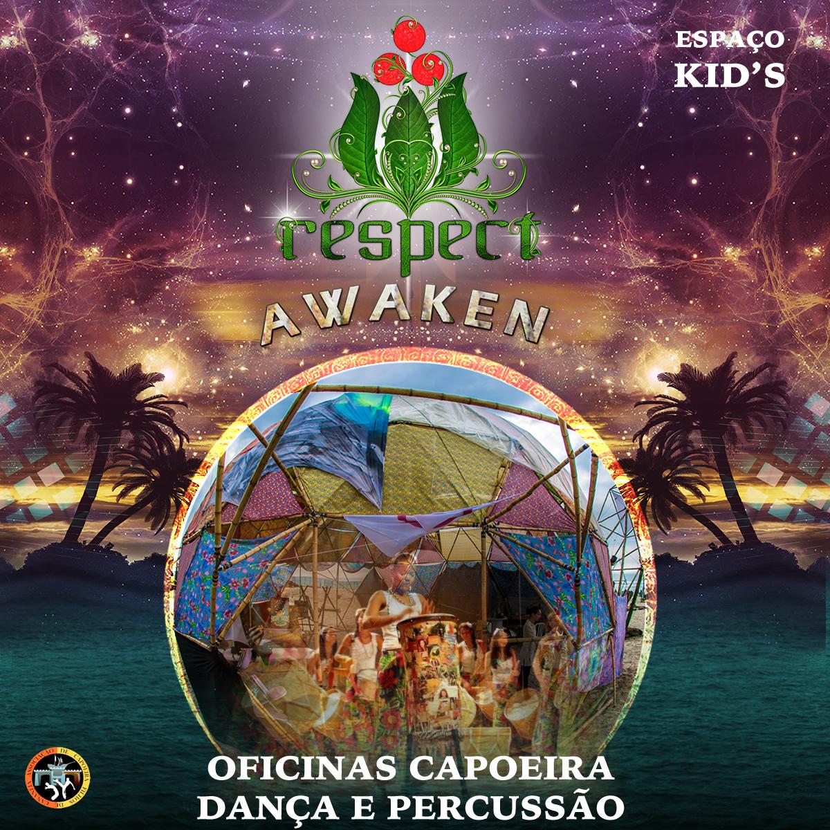 Espaço KID'S – Oficinas de Capoeira, Danças E Percussão @ Respect Awaken 2017