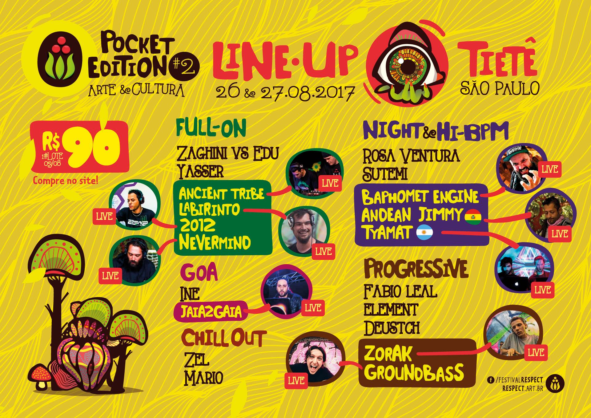 Line Up @ Respect Pocket #2