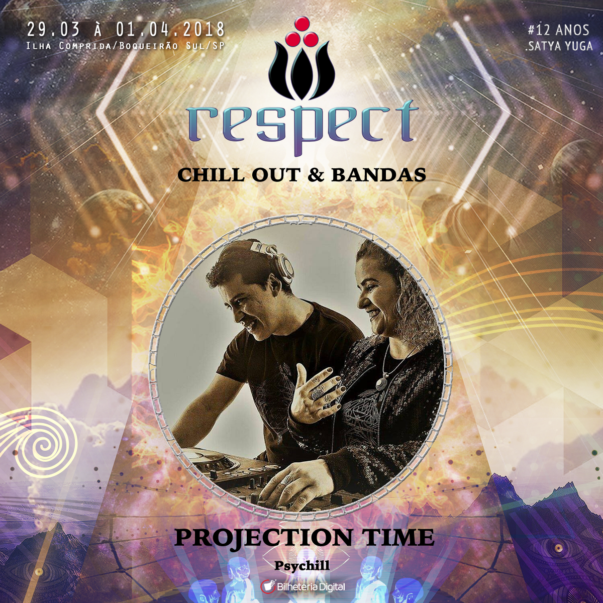 Projection time @ Artista Confirmado Respect Festival 2018