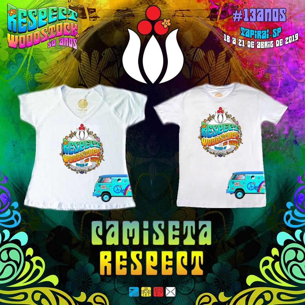 Camiseta – Respect Woodstock 50 anos
