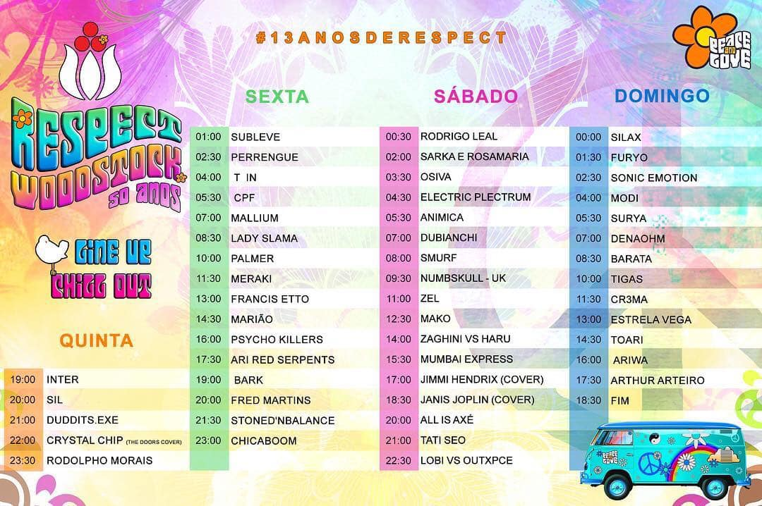 Time Table – Chill Out & Bandas – ReSPect Woodstock